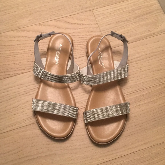 a66a27557d53 A. Giannetti Shoes - Womens Sandals with rhinestone straps